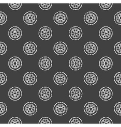 Dark car wheel pattern vector image