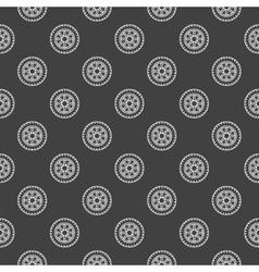 Dark car wheel pattern vector