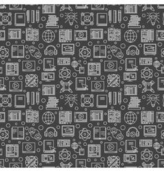 Dark e-learning seamless pattern vector