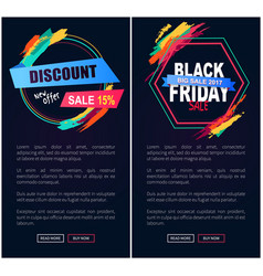 Discount sale 15 black friday vector