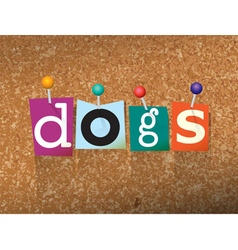 Dogs Concept vector