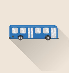Flat style bus icon vector