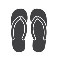 Flip flops glyph icon vector