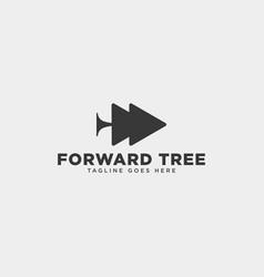 Forward tree plants simple logo template icon vector