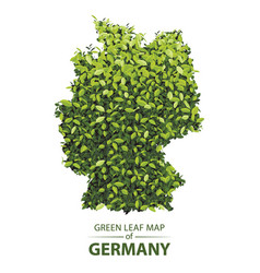 Green leaf map of germany of a vector