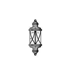 hand drawn garden lamp logo designs inspiration vector image