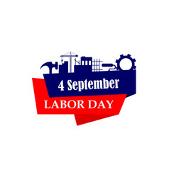 happy labor day usa logo design vector image