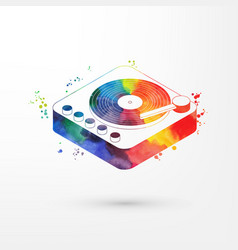 isometric watercolorp vinyl vector image