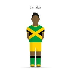 Jamaica football player Soccer uniform vector
