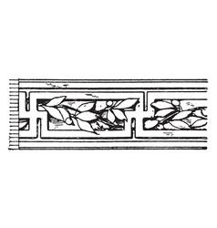 Laurel fret band is a pattern that has laurel vector