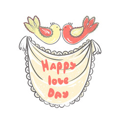 lettering happy love day stylized large letters vector image