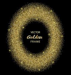luxury golden glitter oval frame vector image