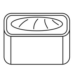 Maguro sushi roll icon outline style vector
