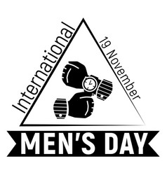mens day hand watch icon simple style vector image