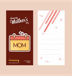 Mothers day card with womens logo and pink theme vector
