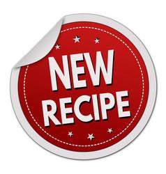 New recipe label or sticker vector