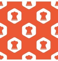 Orange hexagon chef hat pattern vector
