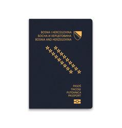 Passport bosnia citizen id template vector