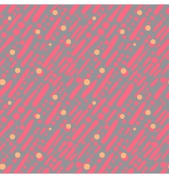 Pattern with random brushstrokes and dots vector image