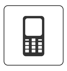 Phone mobile icon retro 1 vector