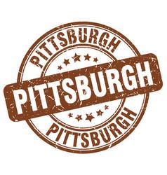 Pittsburgh brown grunge round vintage rubber stamp vector