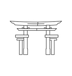 Portal japanese culture icon vector