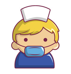 Pregnant nurse icon cartoon style vector