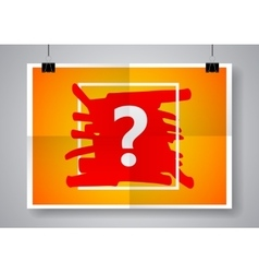 Question mark sign icon Help symbol Twice a vector
