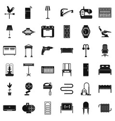 refrigerator icons set simple style vector image