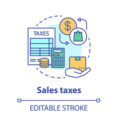 Sales taxes concept icon paying income share vector