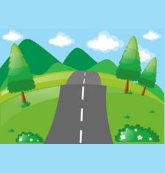 scene with road in the park vector image