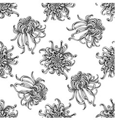Seamless pattern with black and white japanese vector