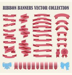 set hand drawn ribbons vector image
