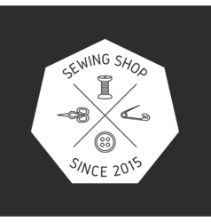 Sewing badge emblem vector