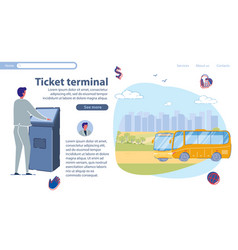 special equipment for ticket terminal slide vector image