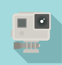 Sport action camera icon flat style vector