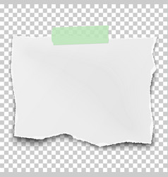 square ragged paper fragment with soft shadow vector image