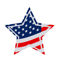star independece day flag icon vector image