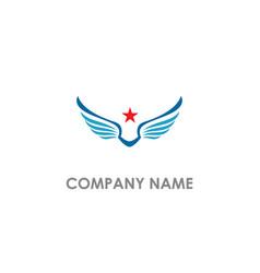 star wing america freedom logo vector image