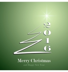 Stylized Christmas tree on decorative green vector image