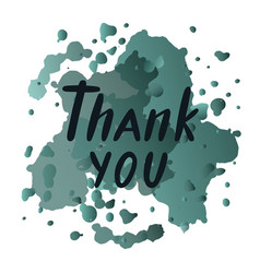 thank you for typographyposter logotype flyer vector image