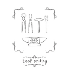 Tool Smithy Five vector image