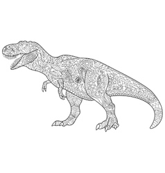 Tyrannosaur Coloring for adults vector image