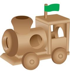 Wooden Train vector