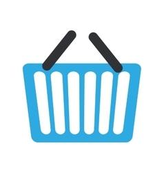 Blue basket shopping online e-commerce vector