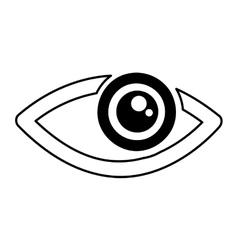 eye human sign isolated icon vector image vector image