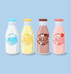labels on milk bottles vector image vector image