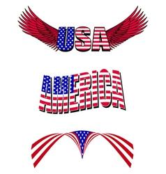 patriotic designs vector image vector image