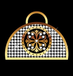purse gold vector image