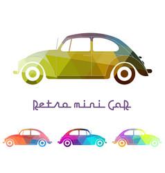 set of colorful retro car vector image vector image